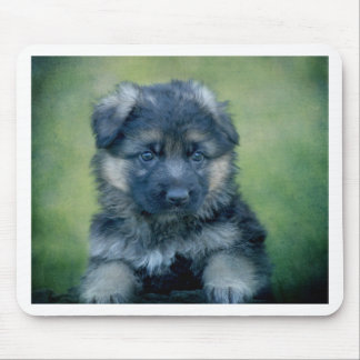Long Coated German Shepherd Puppy Mouse Pad