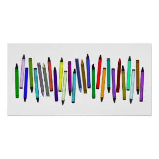 Long Crayons Poster