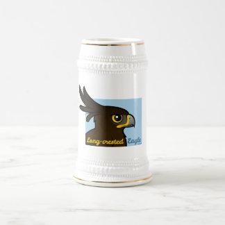 Long-crested Eagle Portrait Beer Stein