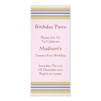Long Crisp Mod Design Birthday Party Invitation