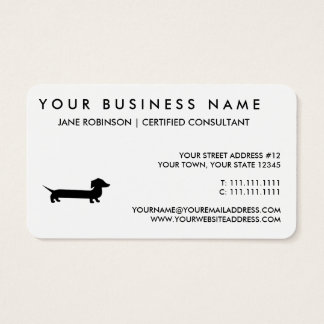 Long Dachshund Funny Drawing Business Card