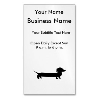 Long Dachshund Funny Drawing Business Card Magnet