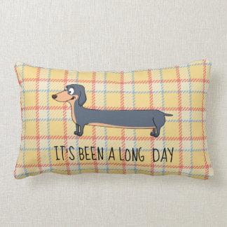 """Long Day Dachshund Pillow, Lumbar Pillow 13"""" x 21"""""""