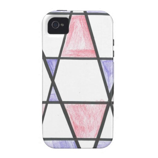 Long Diamond Motif iPhone 4 Case