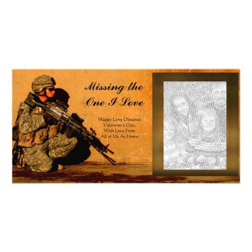 Long Distance Deployment Love Photo Card Template