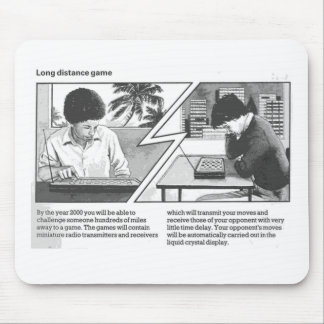 Long Distance Game - Vintage Magazine Article Mouse Pad