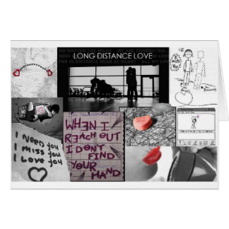 long distance love greeting card