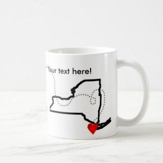 Long Distance Relationship Moving Away Gift. CA-NY Coffee Mug