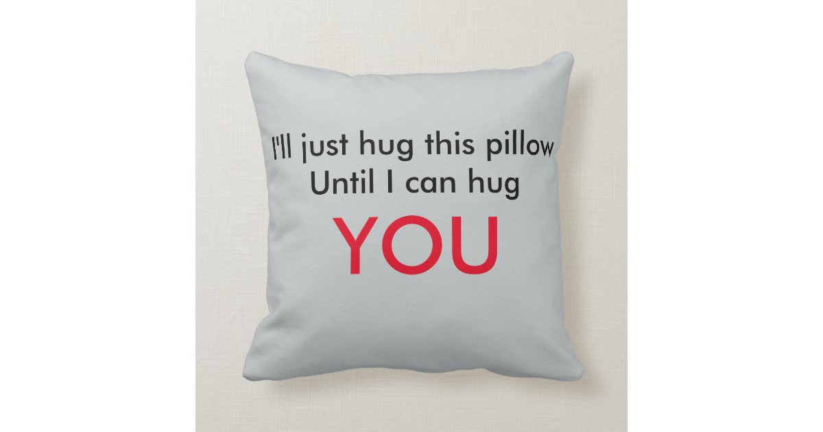 long distance relationship pillow zazzle. Black Bedroom Furniture Sets. Home Design Ideas