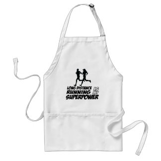 Long distance running adult apron