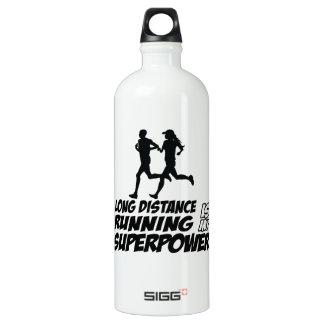 Long distance running aluminum water bottle