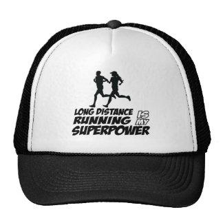 Long distance running trucker hat