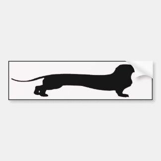 Long Doxie Bumper Sticker