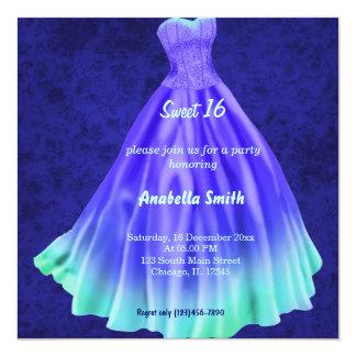 Long dress Sweet 16 (Blue) Card