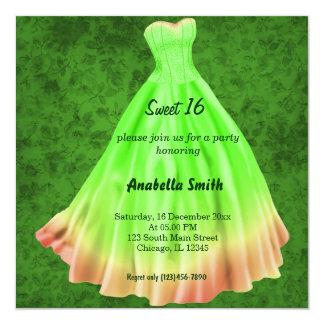 Long dress Sweet 16 (Green) Card