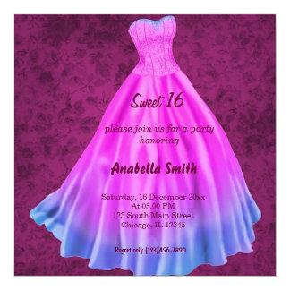 Long dress Sweet 16 (Pink) Card