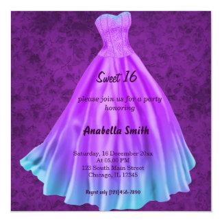Long dress Sweet 16 (Purple) Card