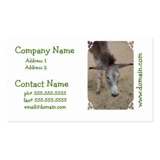 Long Eared Donkey Business Card