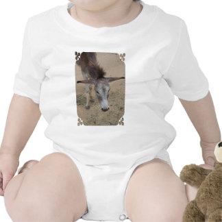Long Eared Donkey Baby Bodysuits