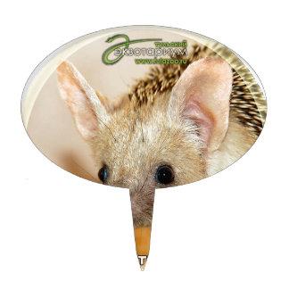 Long-eared hedgehog cake topper