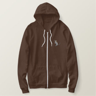 Long-eared Jerboa Embroidered Hoodie