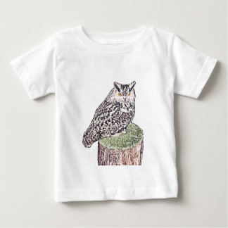 Long Eared Owl Baby T-Shirt