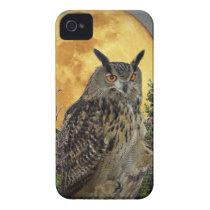 LONG EARED OWL BY MOONLIGHT iPhone 4 CASE