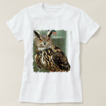Long Eared Owl Ladies T-Shirt
