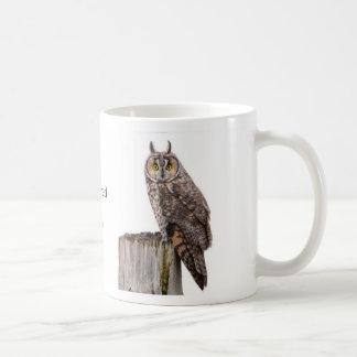 Long-eared Owl Classic White Coffee Mug