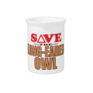 Long-Eared Owl Save Drink Pitcher