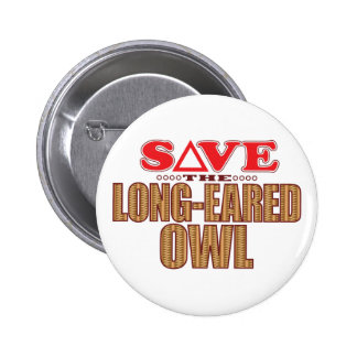 Long-Eared Owl Save Pinback Button