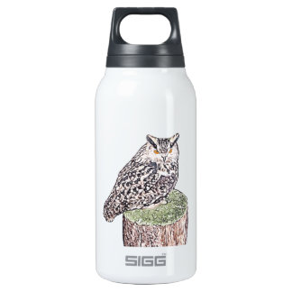 Long Eared Owl Thermos Water Bottle