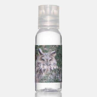 Long-eared Owl Travel Bottle Set Hand Sanitizer
