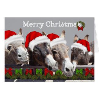 Long Earred Christmas Greeting Card