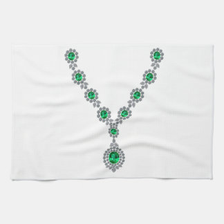 Long Emerald Necklace with Pendant Kitchen Towels
