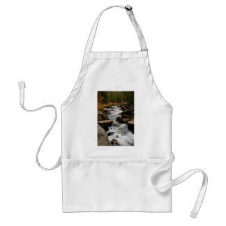 LONG EXPOSURE OF A RIVER AFTER A STORM ADULT APRON