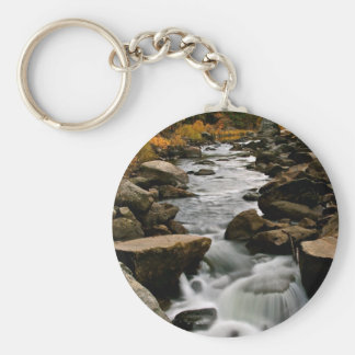 LONG EXPOSURE OF A RIVER AFTER A STORM KEYCHAIN