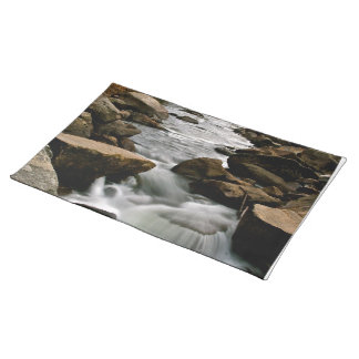 LONG EXPOSURE OF A RIVER AFTER A STORM PLACE MATS