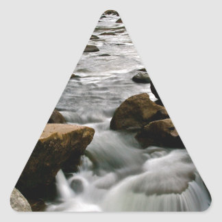 LONG EXPOSURE OF A RIVER AFTER A STORM TRIANGLE STICKER