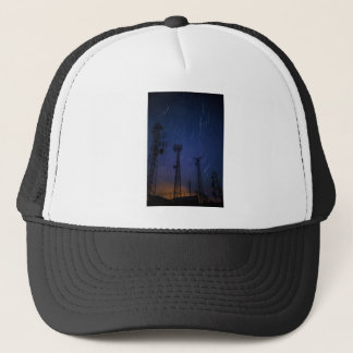 Long Exposure of Star Trails and Shooting Star.jpg Trucker Hat