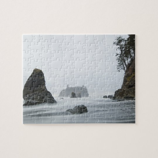 Long exposure of wave motion at Ruby Beach, Jigsaw Puzzle