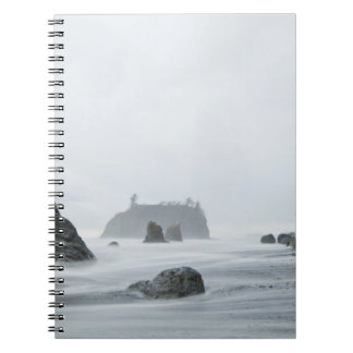 Long exposure of wave motion at Ruby Beach, Notebook