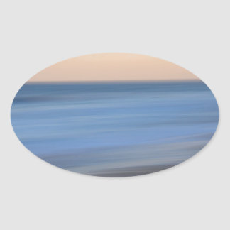 Long Exposure Surf Oval Sticker