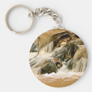 LONG EXPOSURE WILD RIVER AFTER A STORM KEYCHAIN