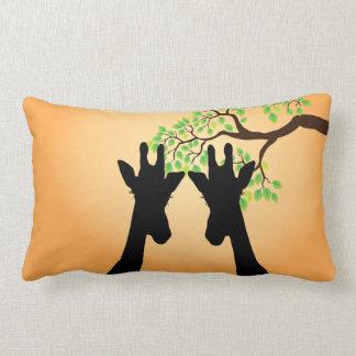 Long Eyelashes Giraffe Lumbar Pillow