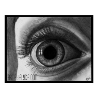 Long Eyelashes Poster