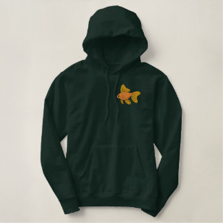 Long Fin Fancy Goldfish Embroidered Hoodie