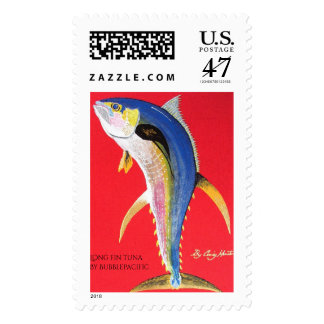 Long fin tuna postage