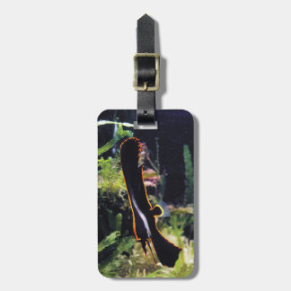 Long finned batfish luggage tag