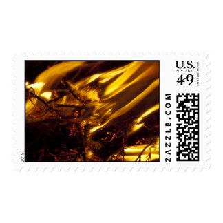 Long Flames Burning Stamp